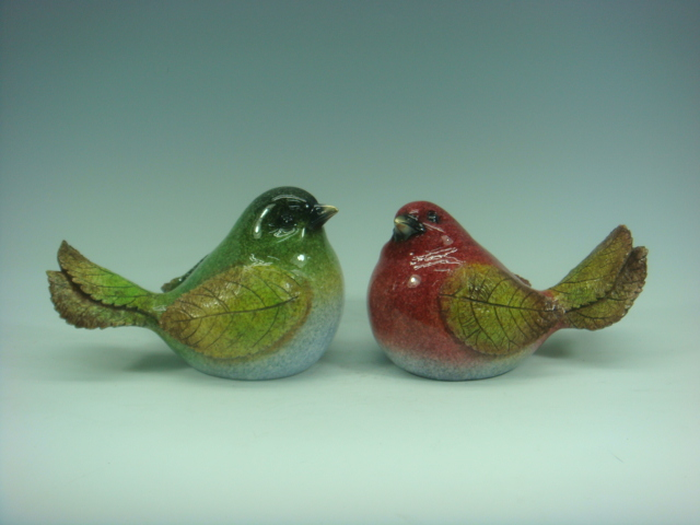 Polyresin Birds with Leave Wings and Tailss